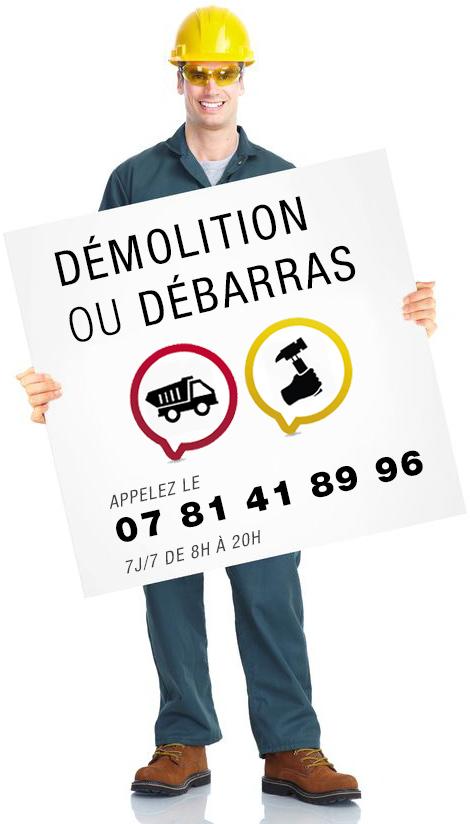 Numéro vert pour appeler démolition et débarras de Paris