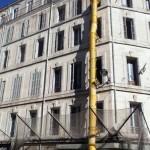 Evacuation de gravats d'un immeuble parisien