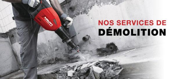 Services et tarifs de démolition