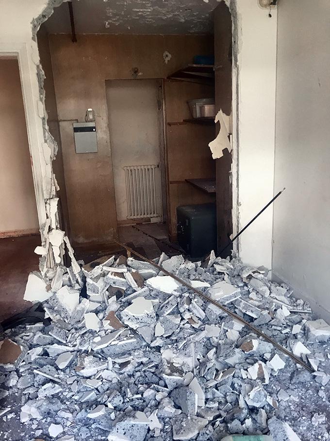 Le problème des gravats lors de la démolition