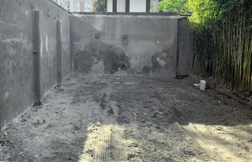 Abattage du garage terminé