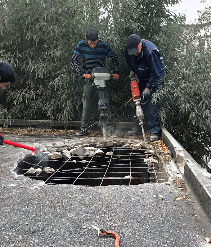 Demolition toit en béton