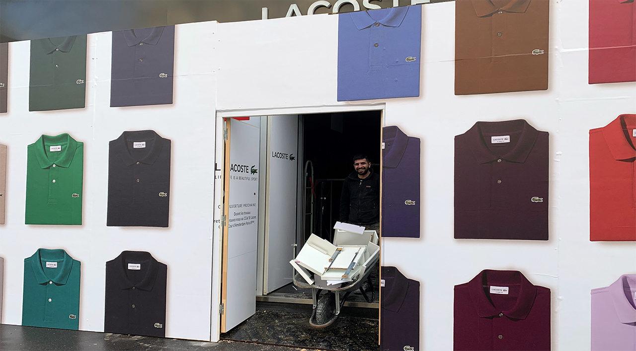 Démolition et débarras magasin Lacoste