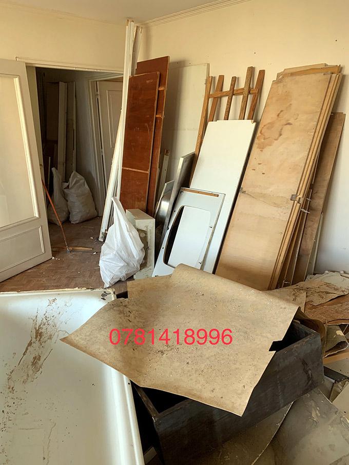 Démontage de cuisine et meubles de l'appartement
