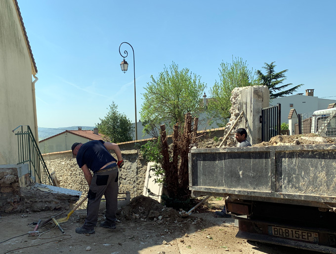 Déblaiement de chantier