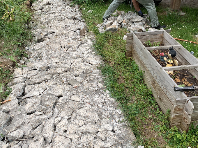 Démolir béton jardin