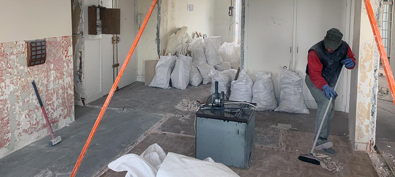 Nettoyage gravats suite démolitions divers