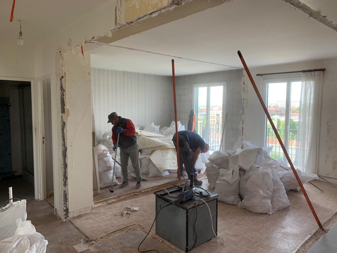 Nettoyage chantier et évacuation des gravats
